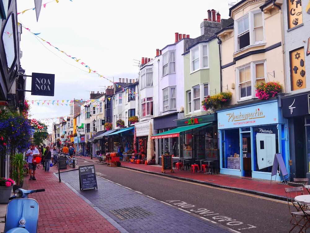 Brighton bunte Straßen