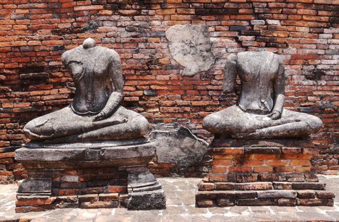 Ayutthaya Statuen