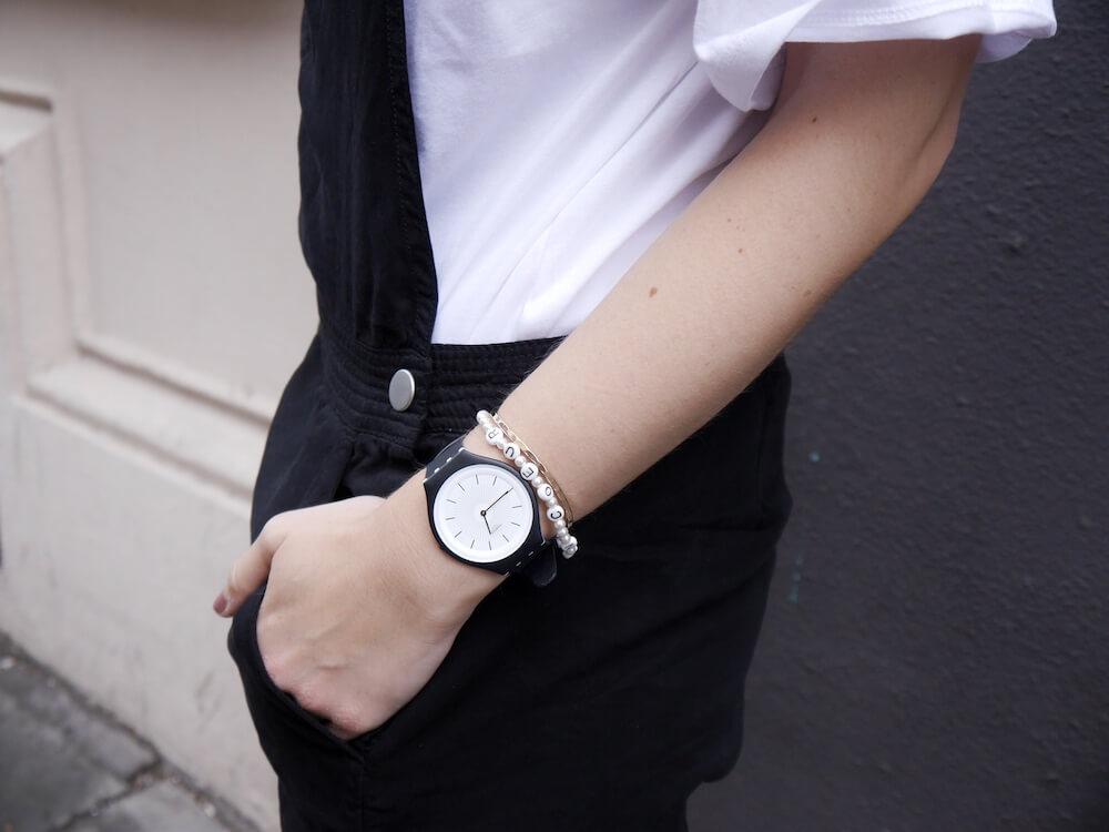 Swatch Uhr Detailaufnahme