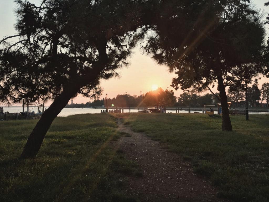 Sonnenuntergang Insel Burano