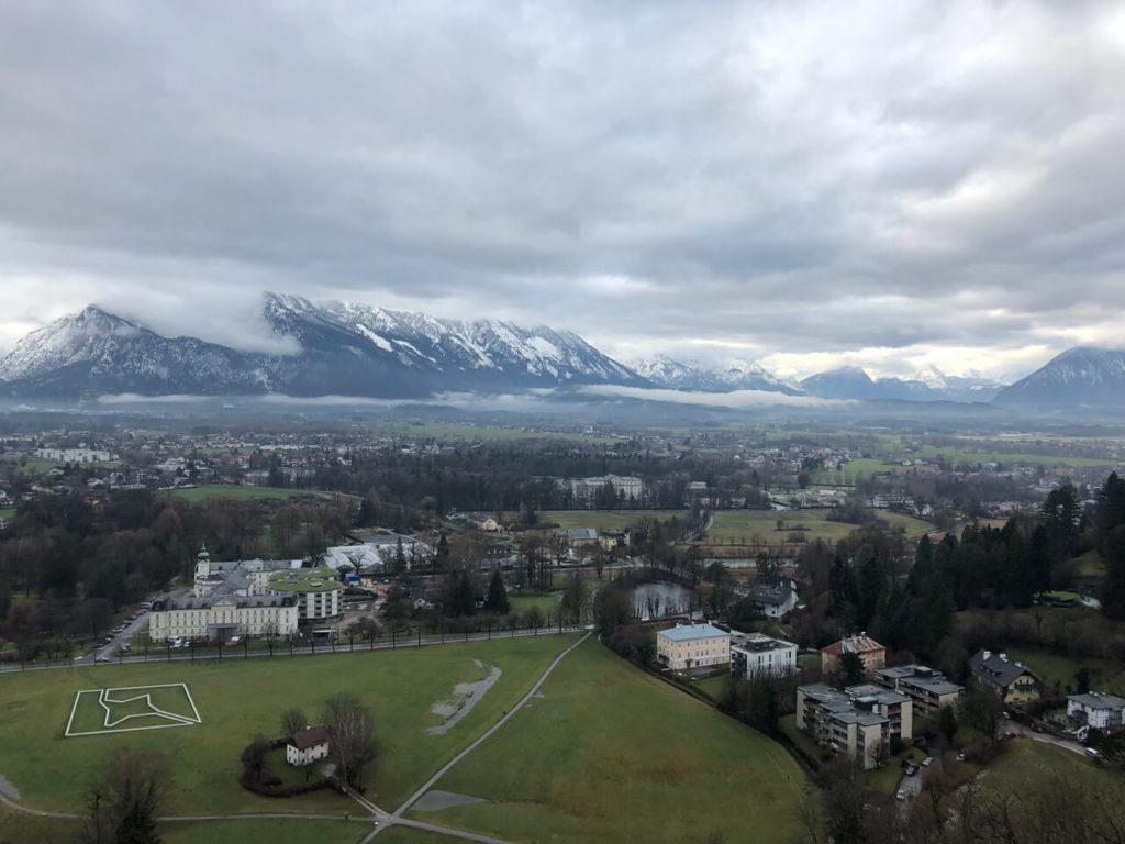 Blick auf die Berge Salzburg