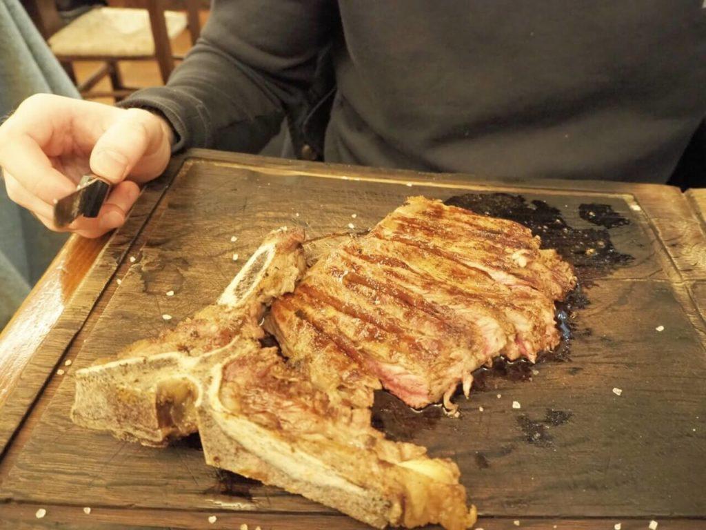Florentinisches Steak im l'Mangiarino