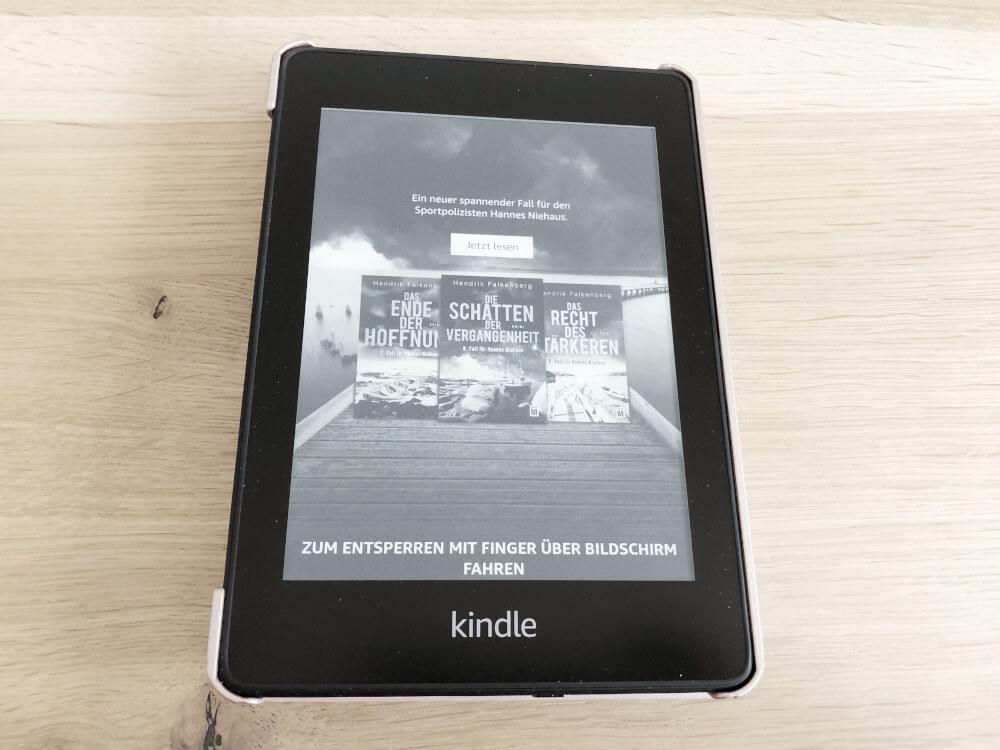 Spezialangebote auf dem Sperrbildschirm des Amazon Kindle Paperwhite